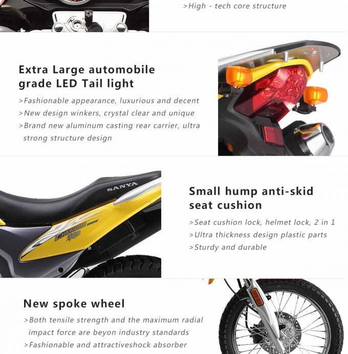 Dirt 200CC GY Gas Powered Motor Bikes Single Cylinder 4 Stroke Dirt Motos