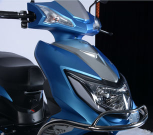 China Unfolded Dual Sport Scooter , Electric Moped Scooter Metal Frame With Safety Bar supplier